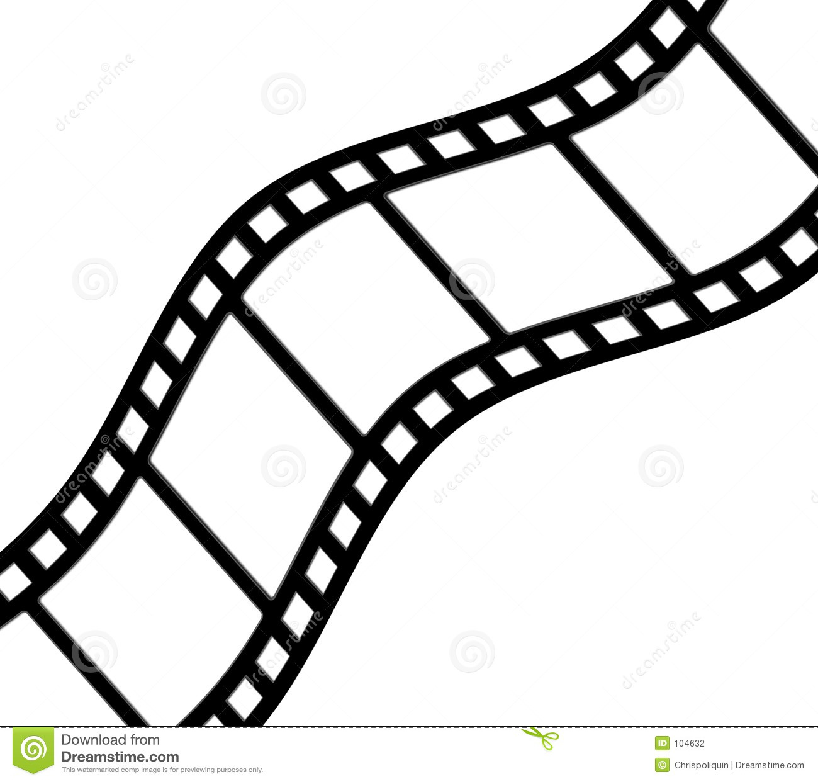 弯曲的filmstrip