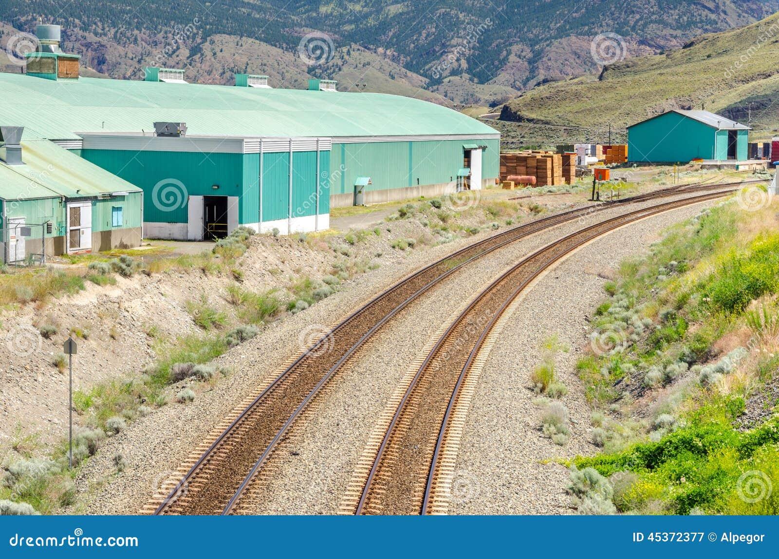 弯曲铁路轨道