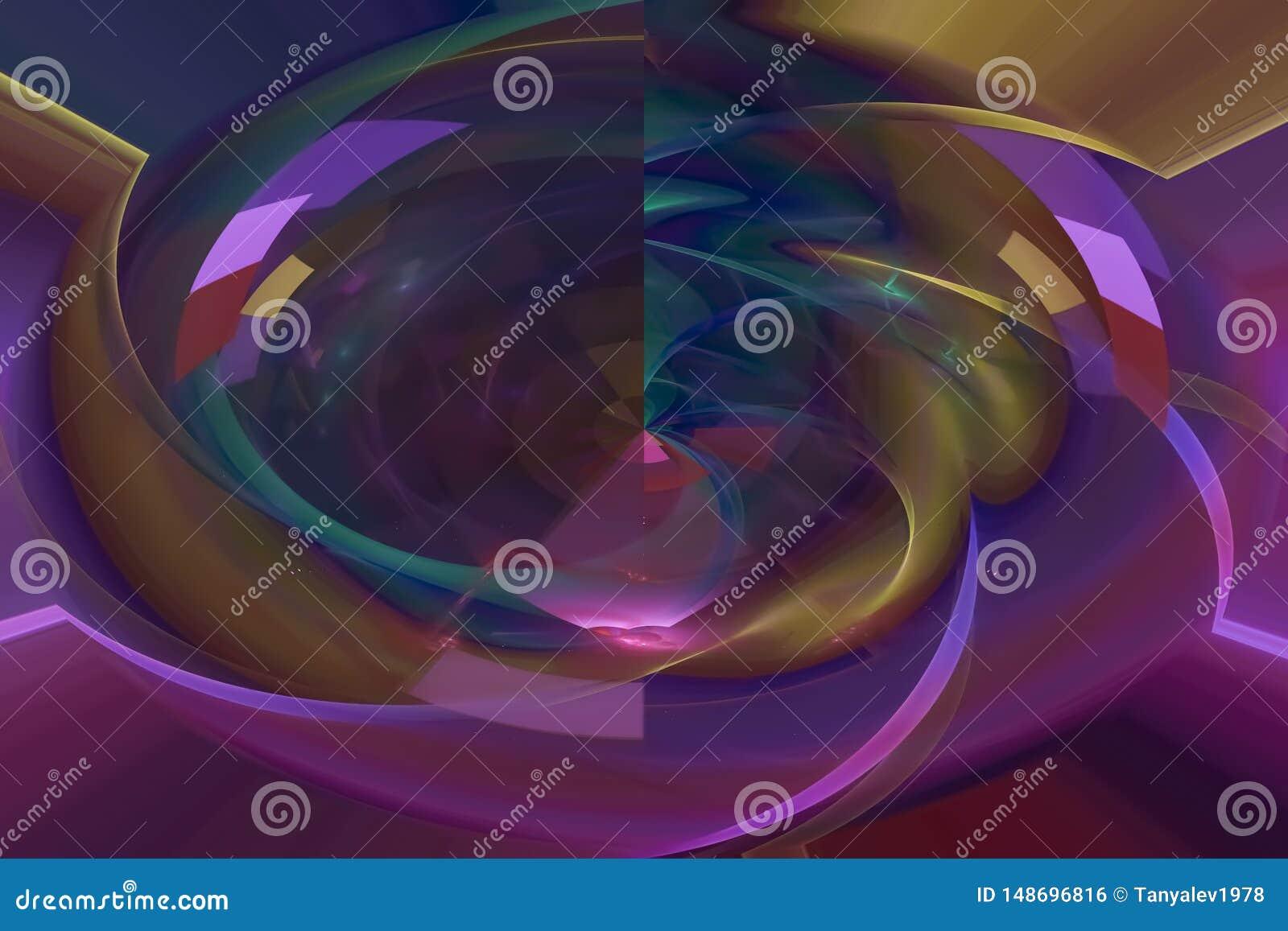 当前覆盖物未来派现代充满活力的分数维,空间,背景,能量,摘要,设计,例证
