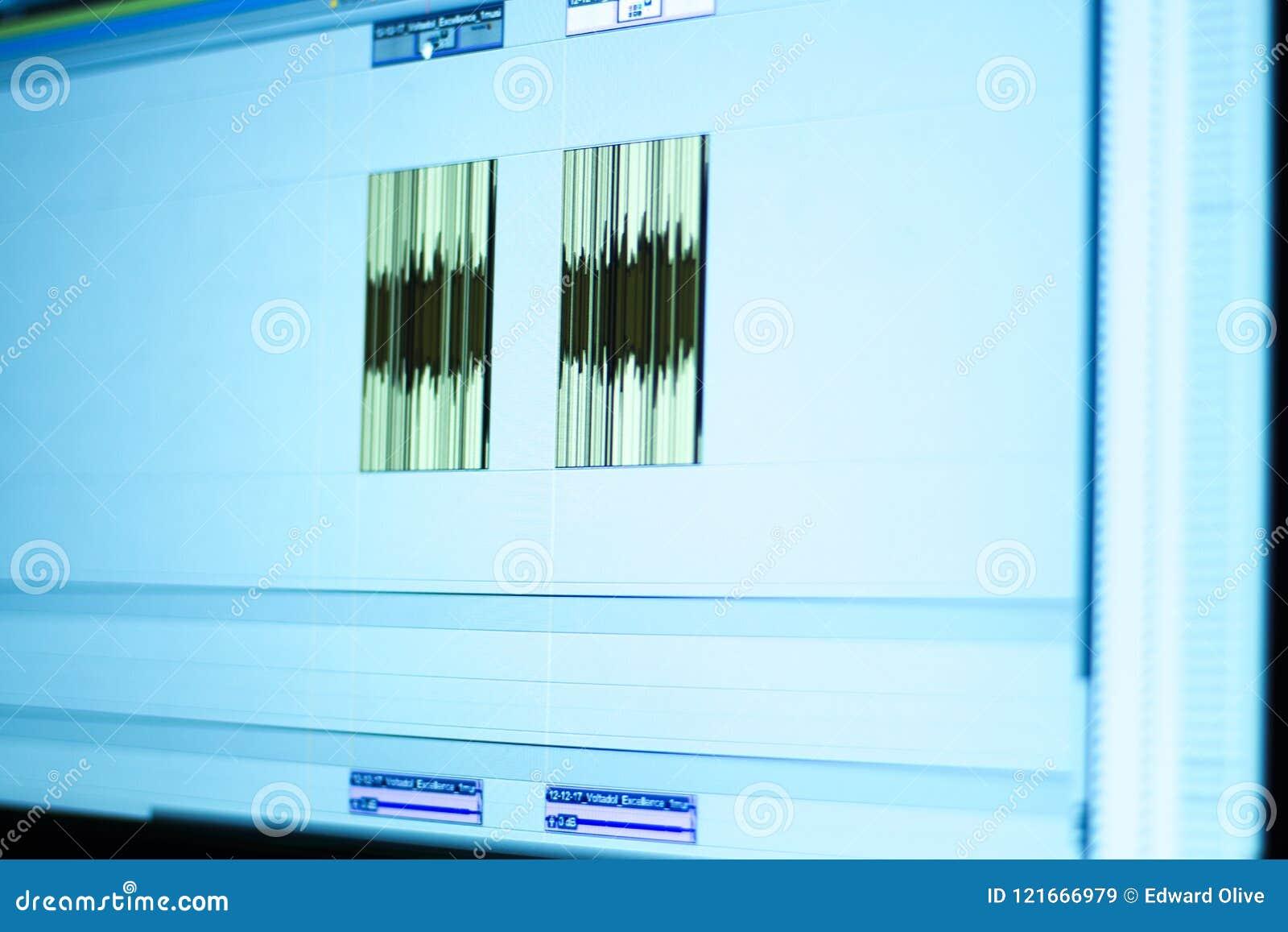 录音室混合的书桌