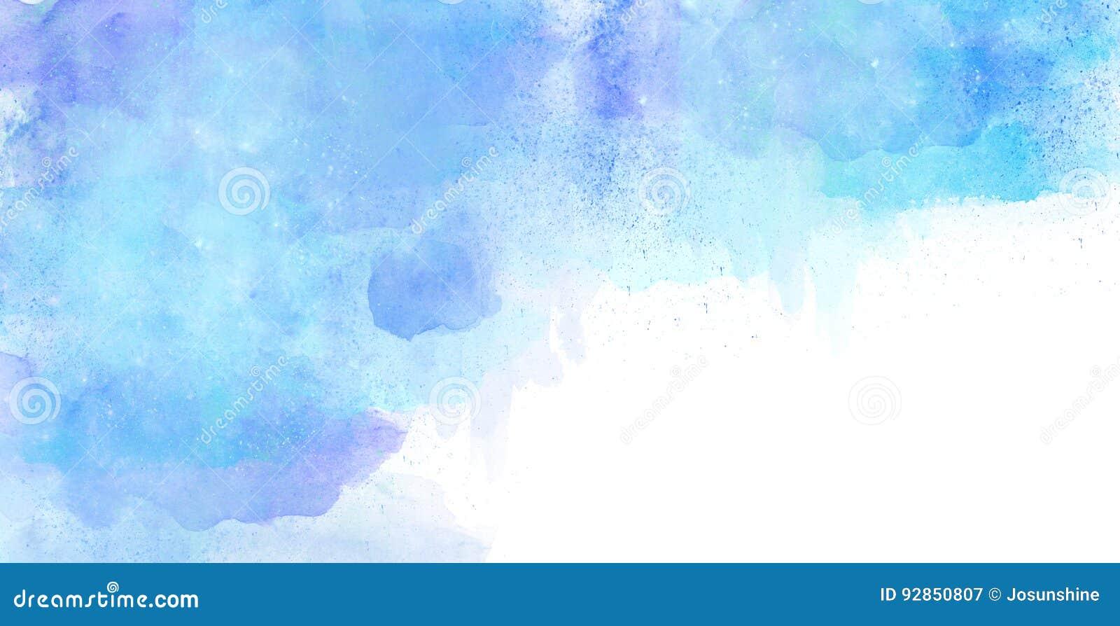 水彩背景蓝色