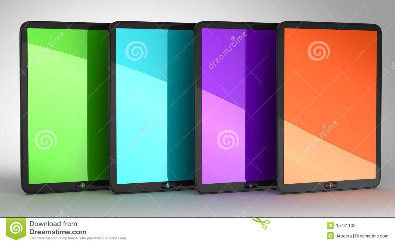 彩色显示四种组个人计算机片剂