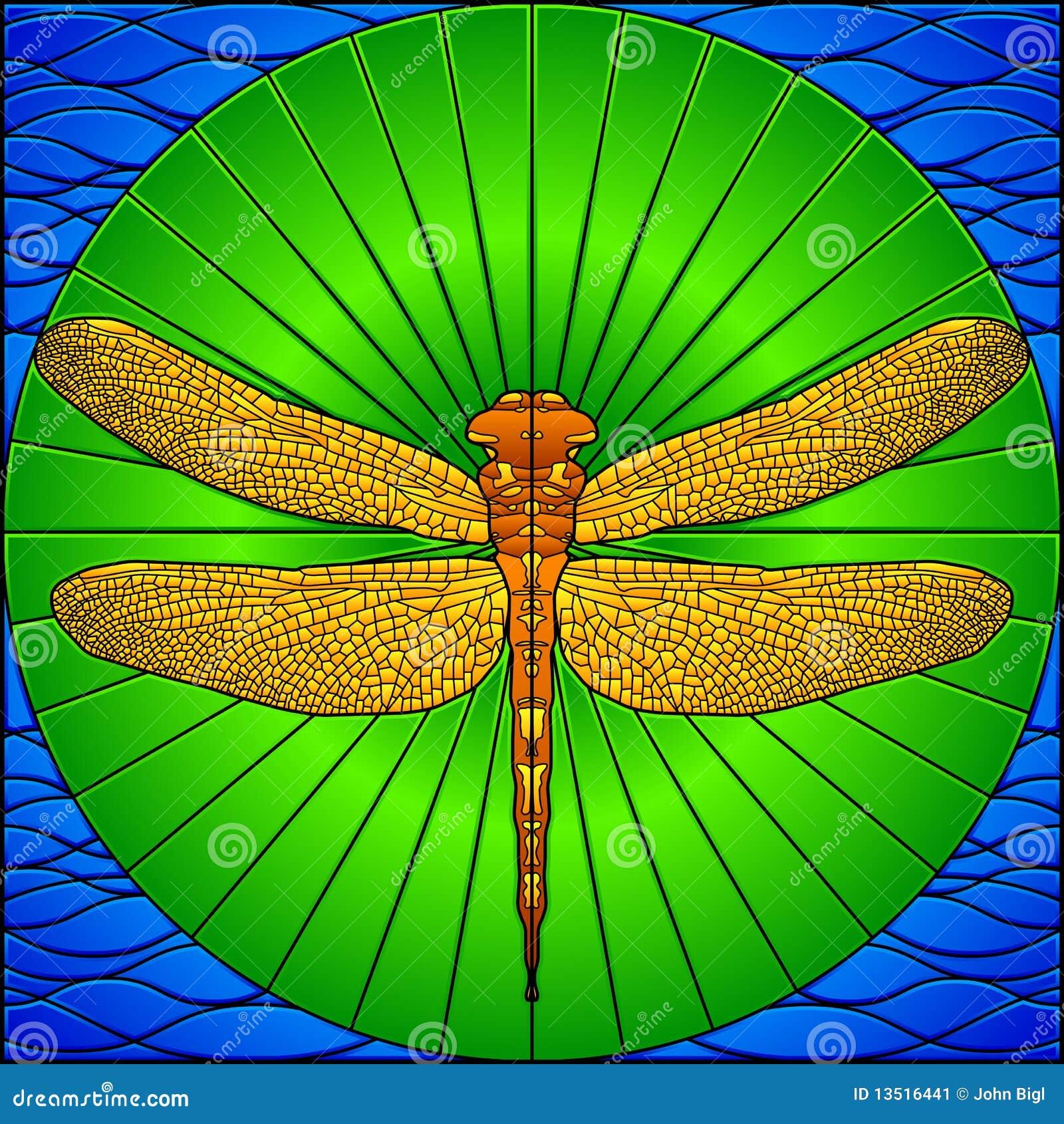 彩色玻璃蜻蜓