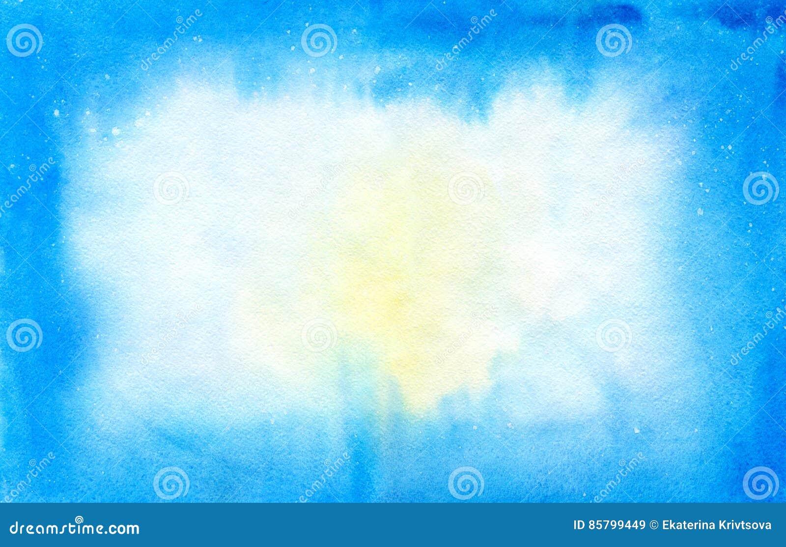 水彩蓝色和白色背景