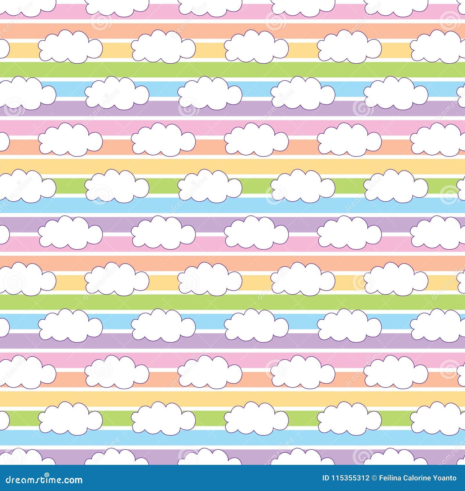 彩虹白色云彩