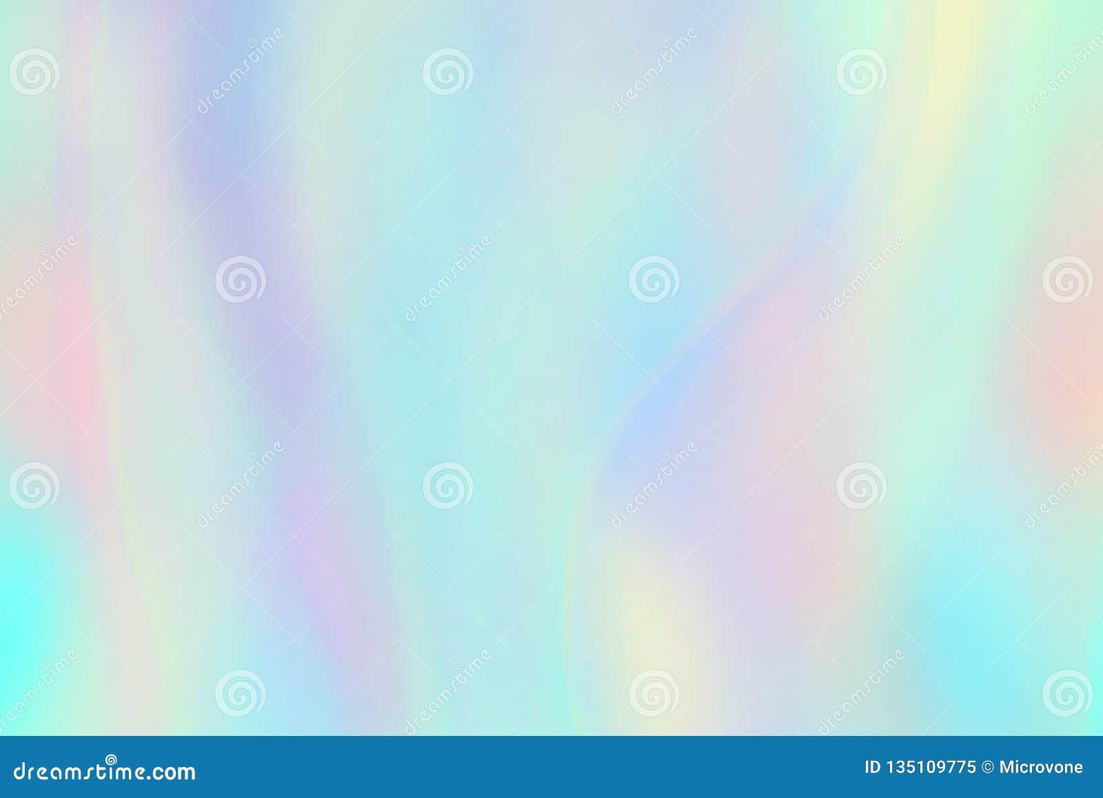彩虹纹理 全息图箔呈虹彩背景 淡色幻想独角兽传染媒介样式