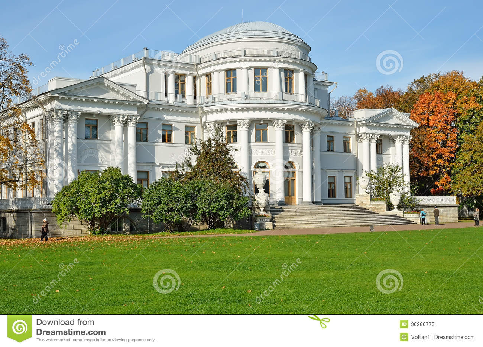Yelagin宫殿在彼得斯堡,俄国
