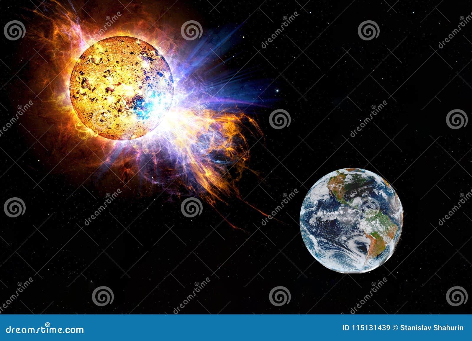 往地球的日晕飞行 太阳攻击地球