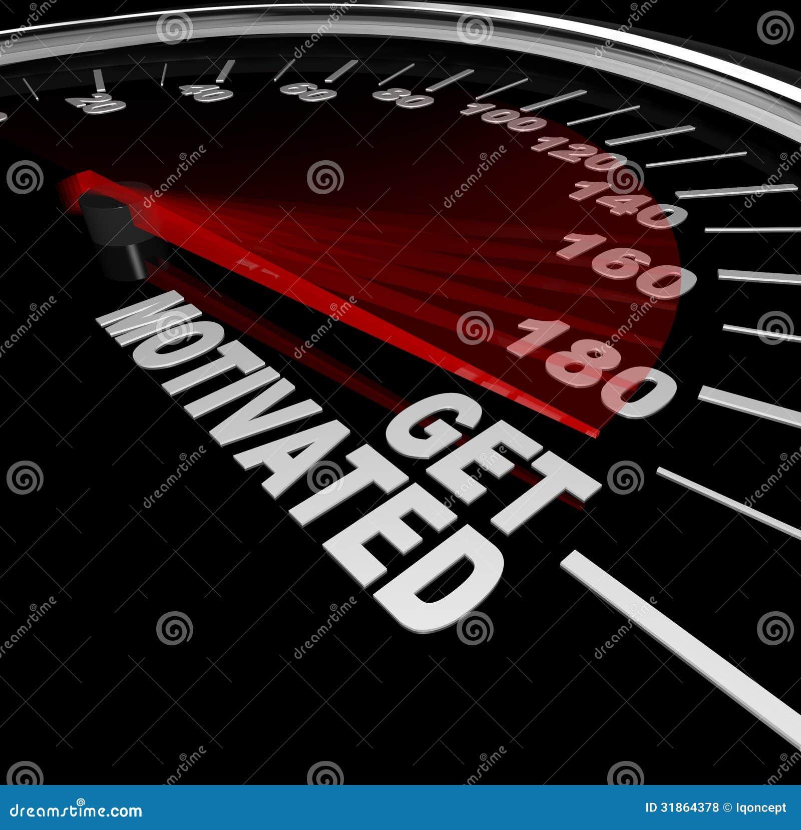 得到有动机的激动和被鼓励的车速表