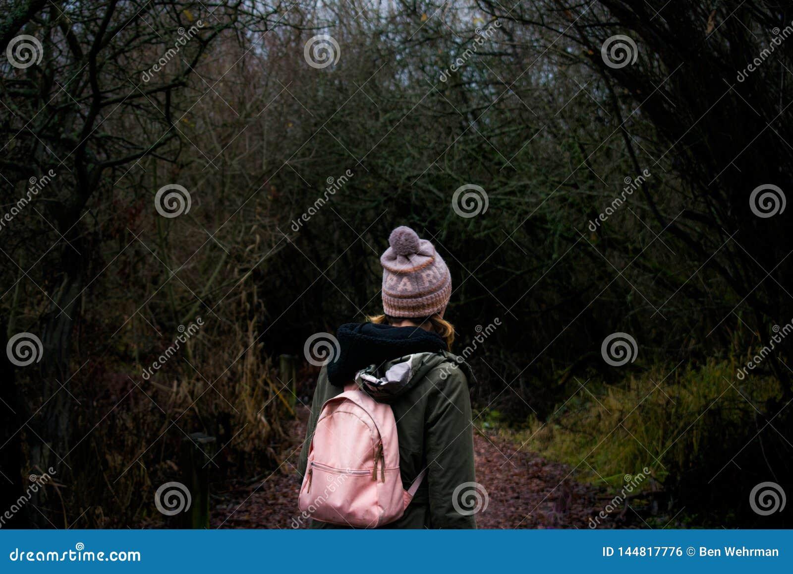得到的女孩丢失在森林