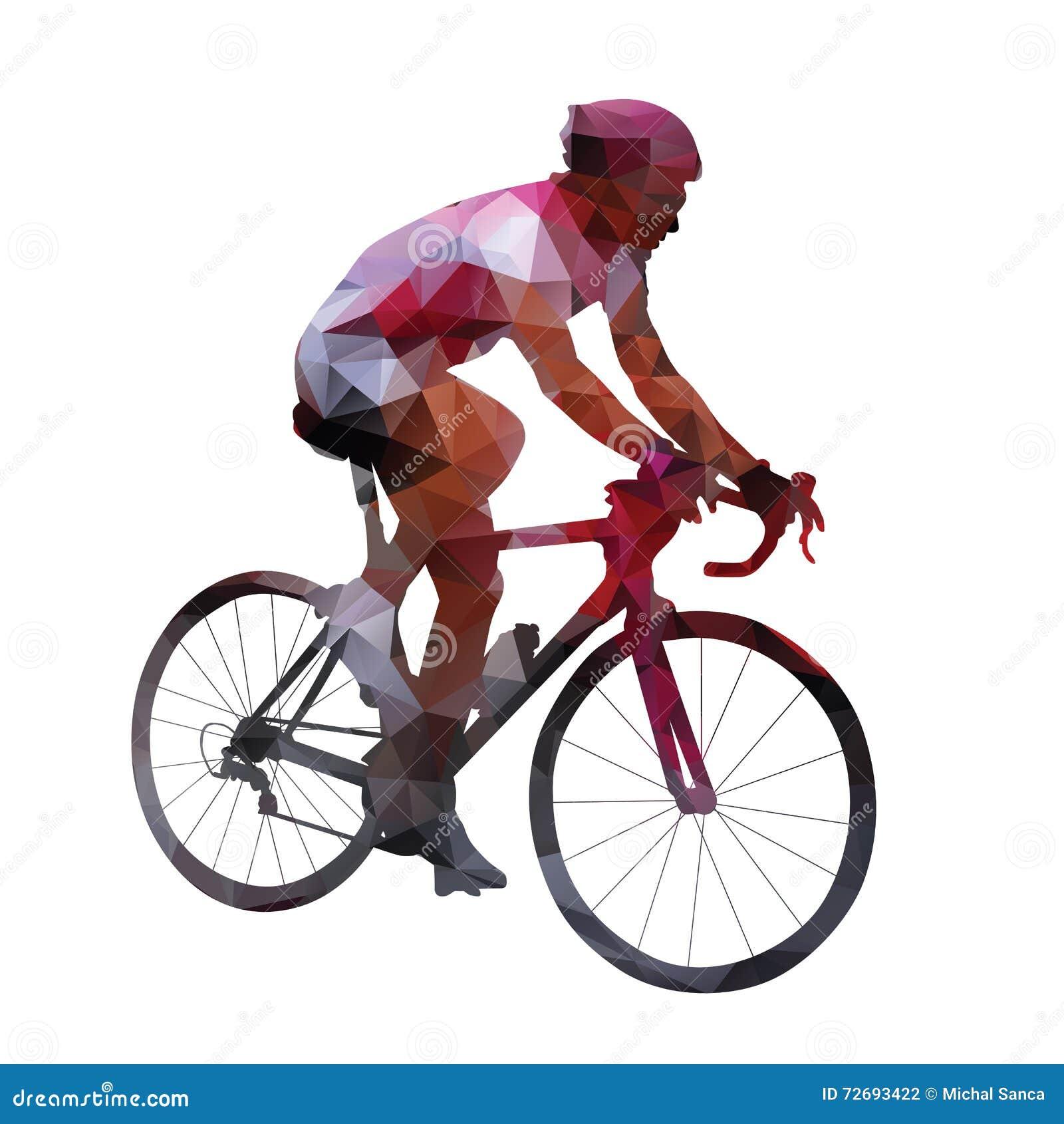循环 抽象几何传染媒介路骑自行车者