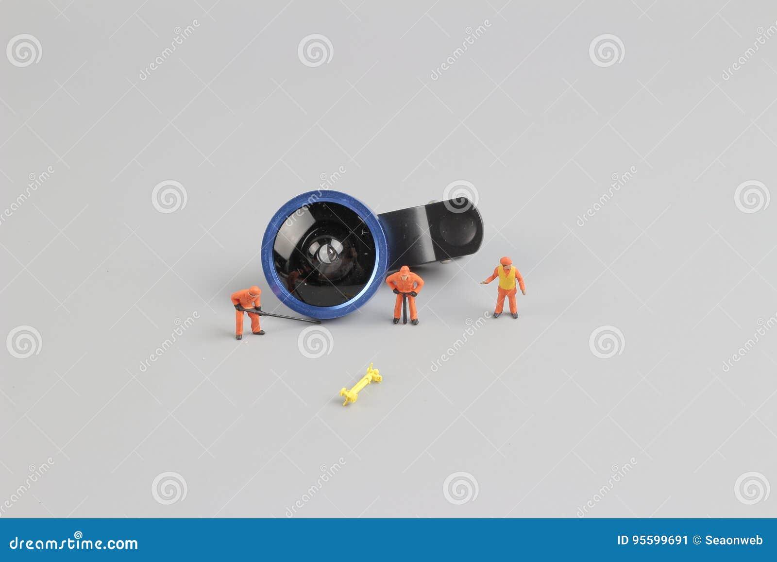 微型人工作者清洁照相机len