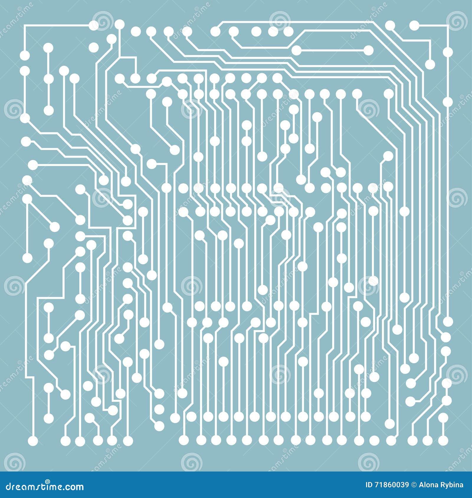 微型电路蓝色样式