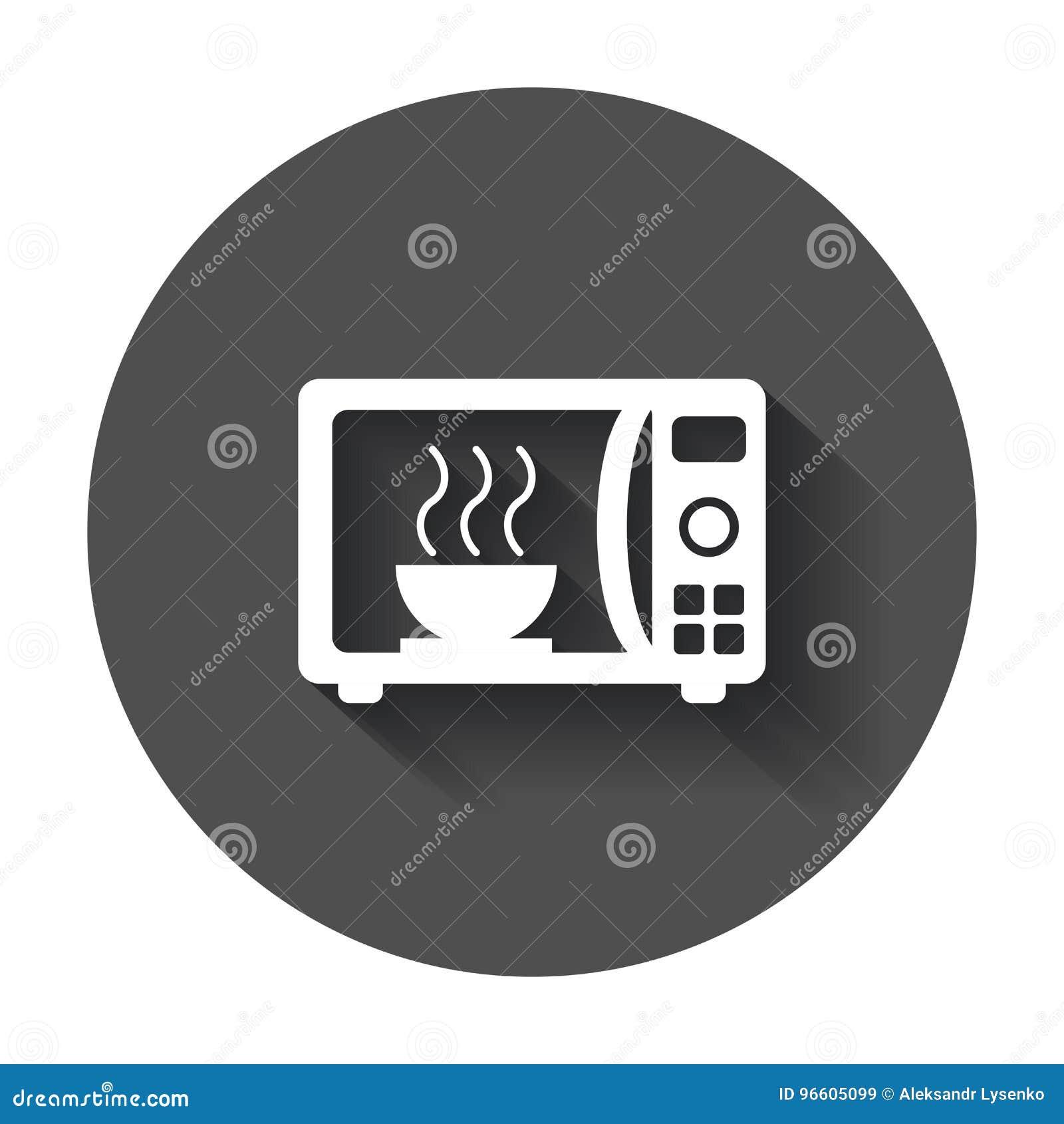 微波平的传染媒介象 微波炉标志商标illustrat