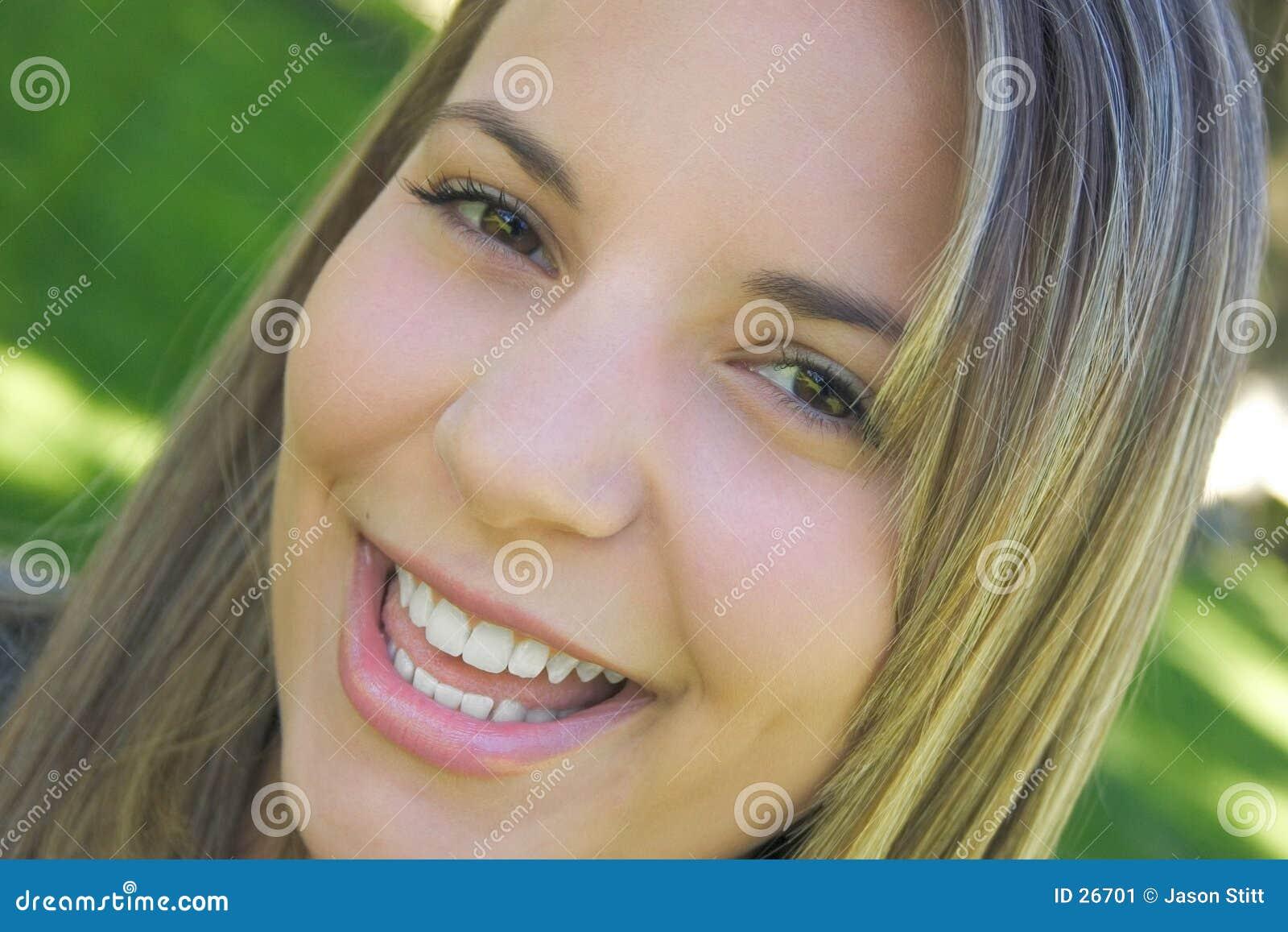 微笑的妇女