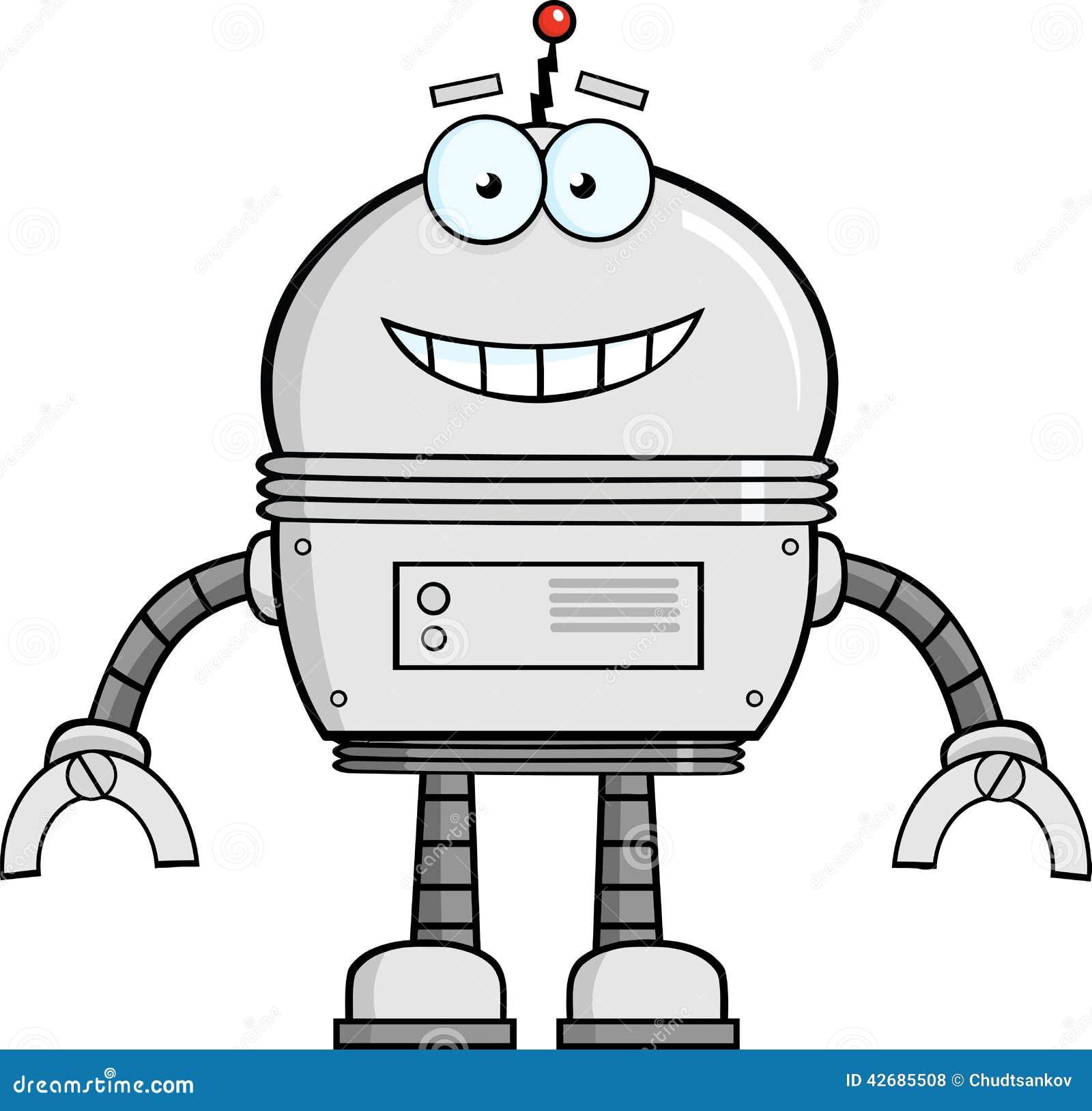 微笑的机器人漫画人物