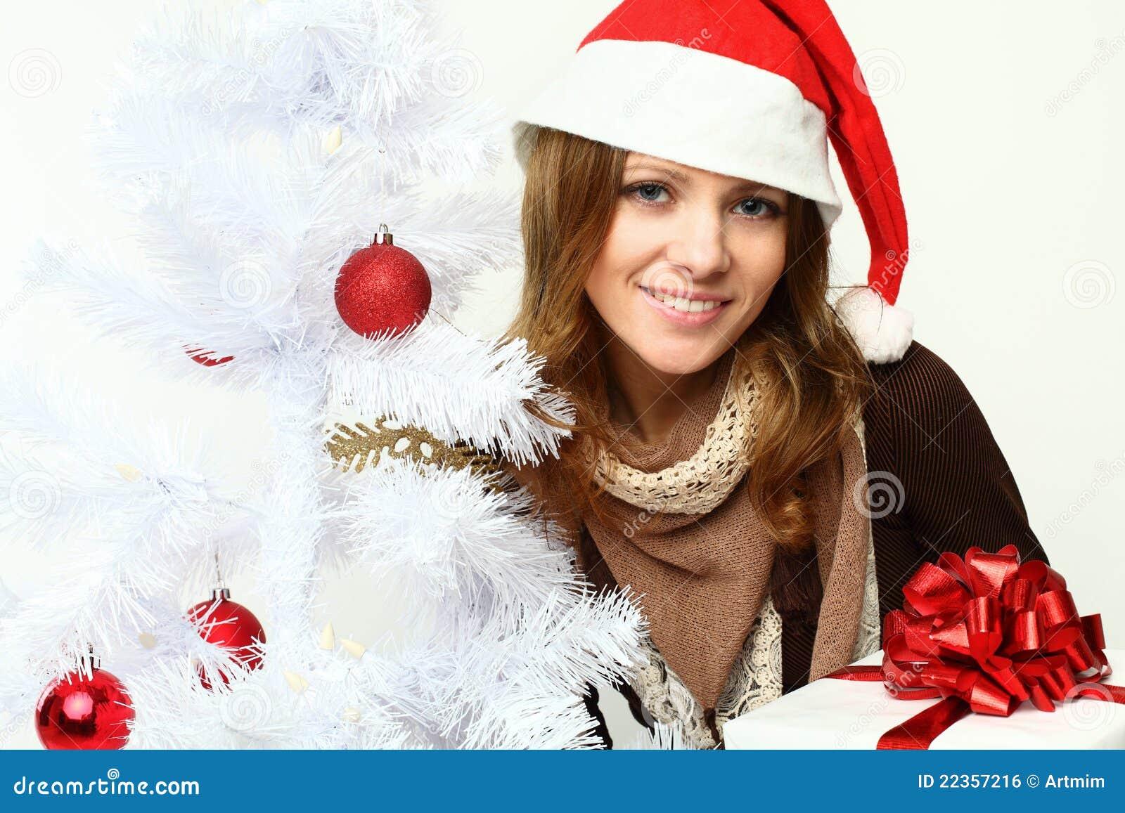 微笑的结构树妇女xmas