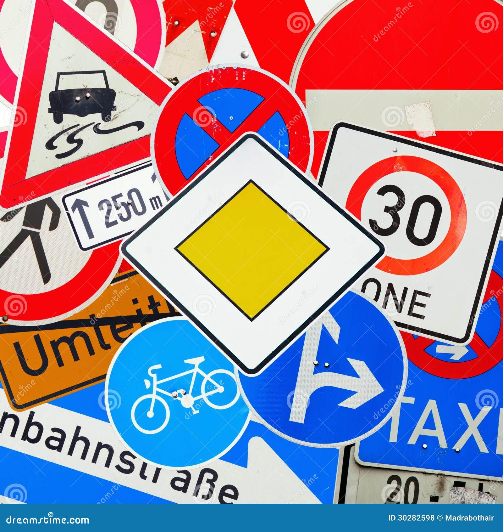 德国交通标志拼贴画