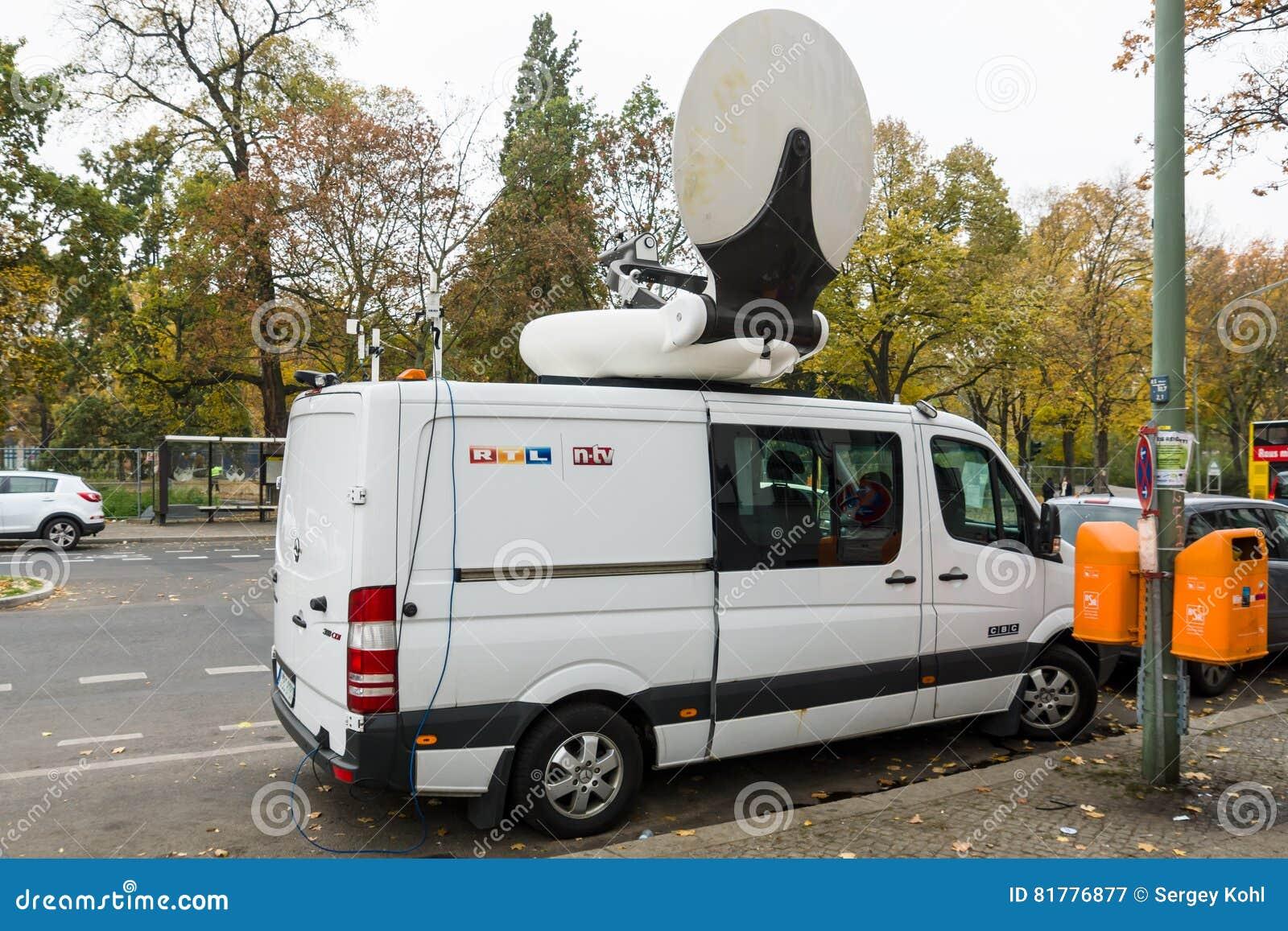 德国新闻播报员NTV的流动电视汽车