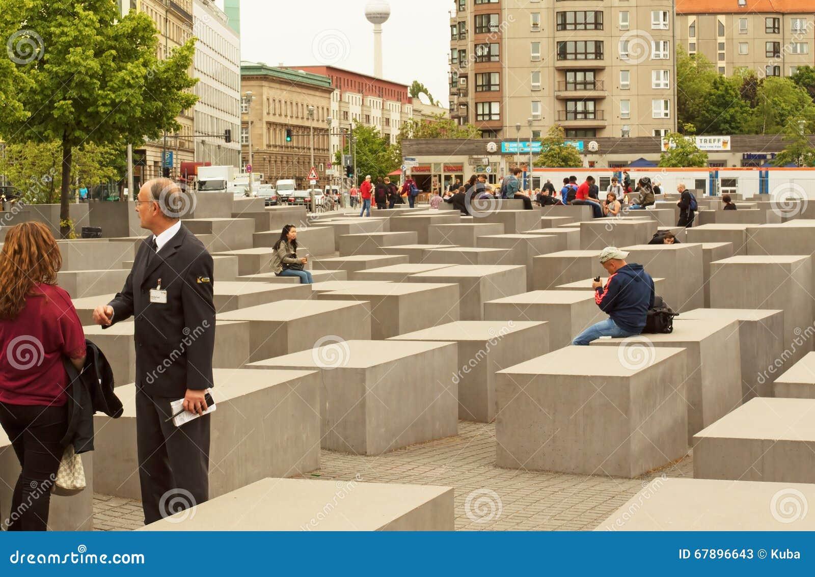 德国柏林, 2016年5月 欧元的被谋杀的犹太人的纪念品