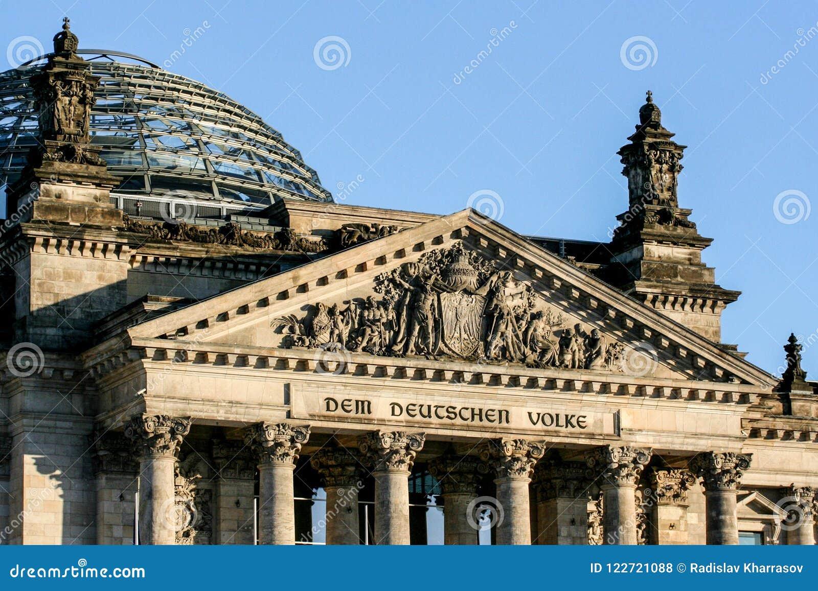 德国的建筑学 大厦在柏林 欧洲旅行在冬天图片