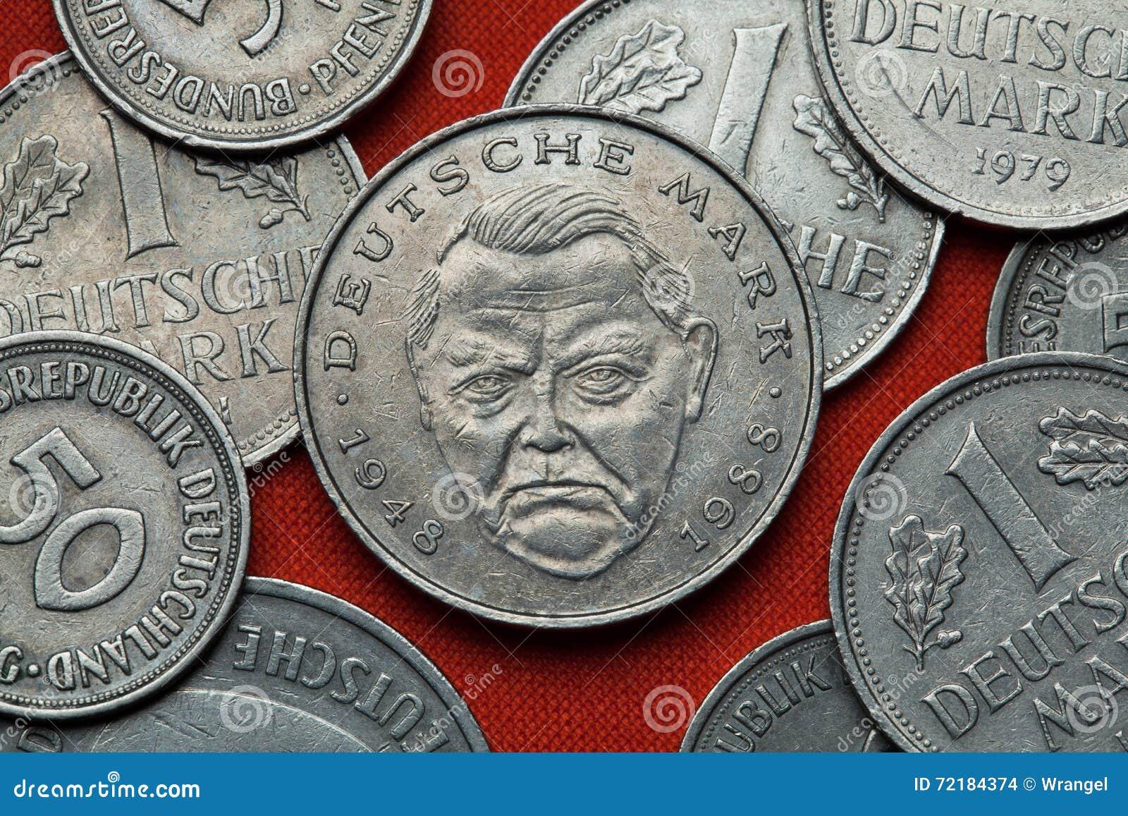 德国的硬币 德国政客路德维希・艾哈德