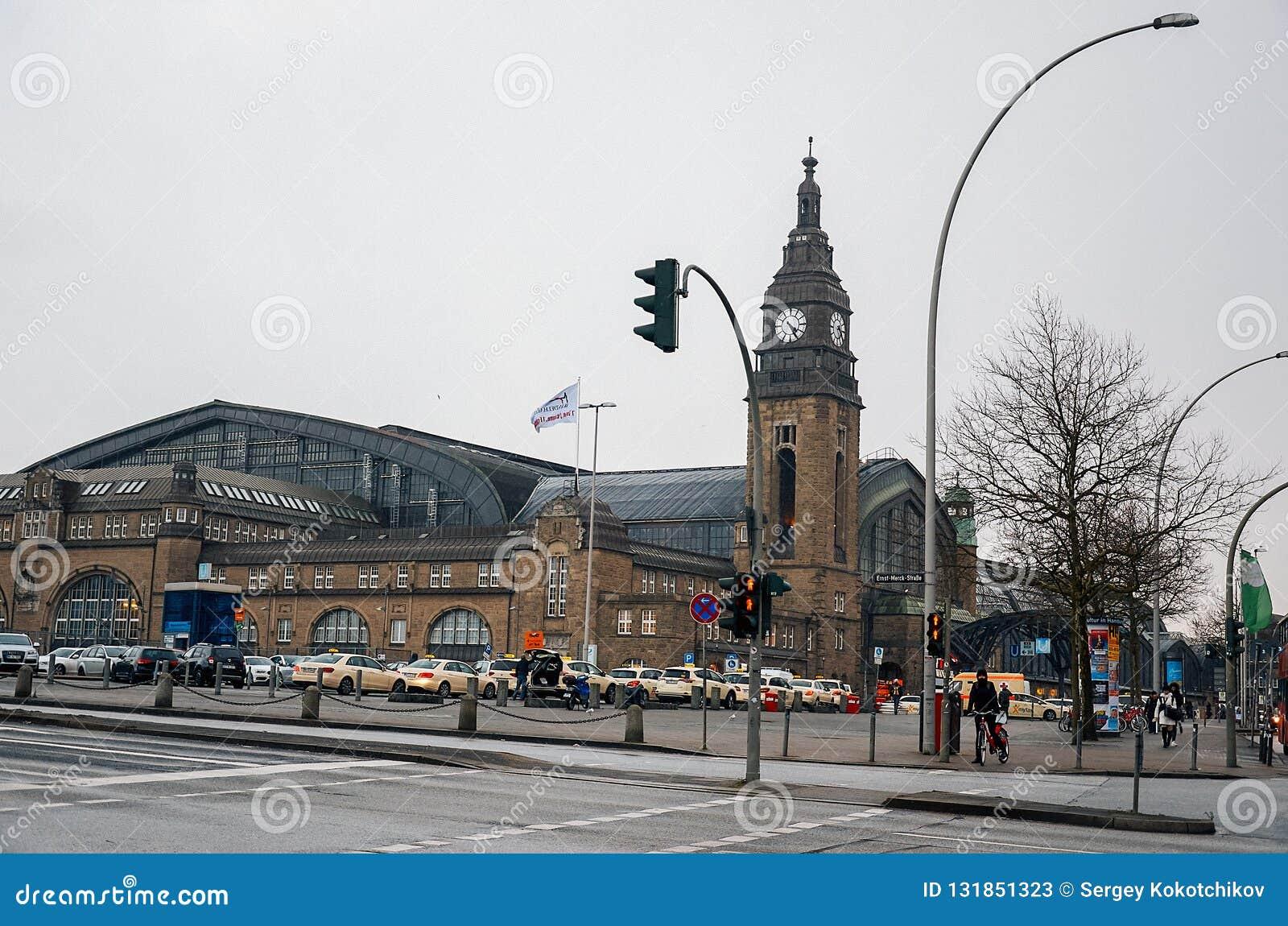 德国 中央火车站'Hauptbannhof'在汉堡 2018年2月12日