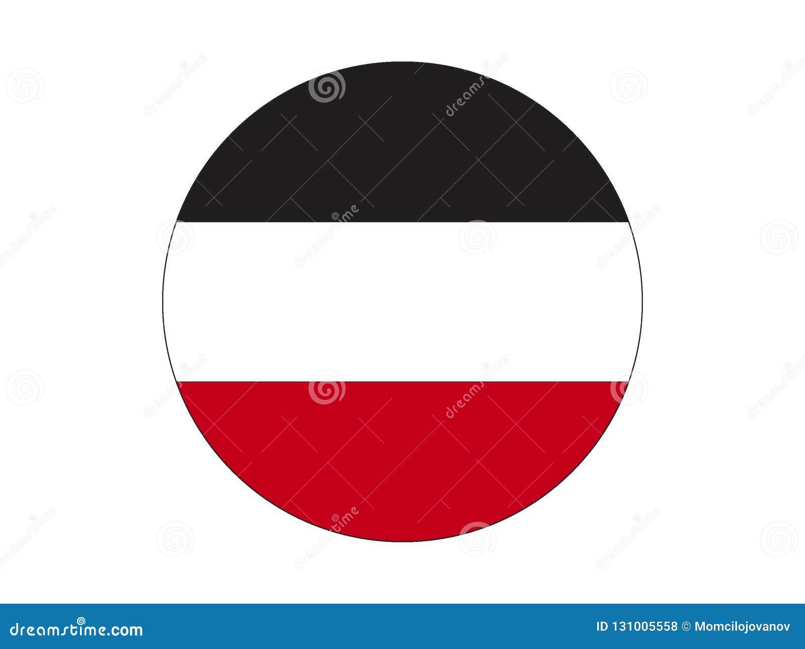 德意志帝国的圆的旗子