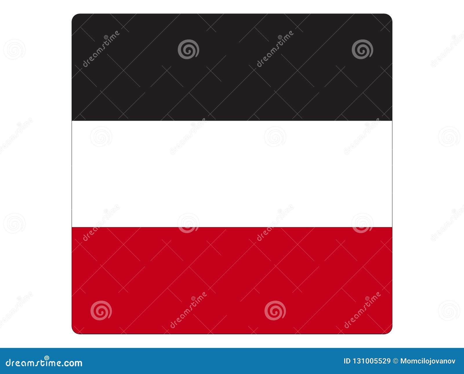 德意志帝国的方形的旗子