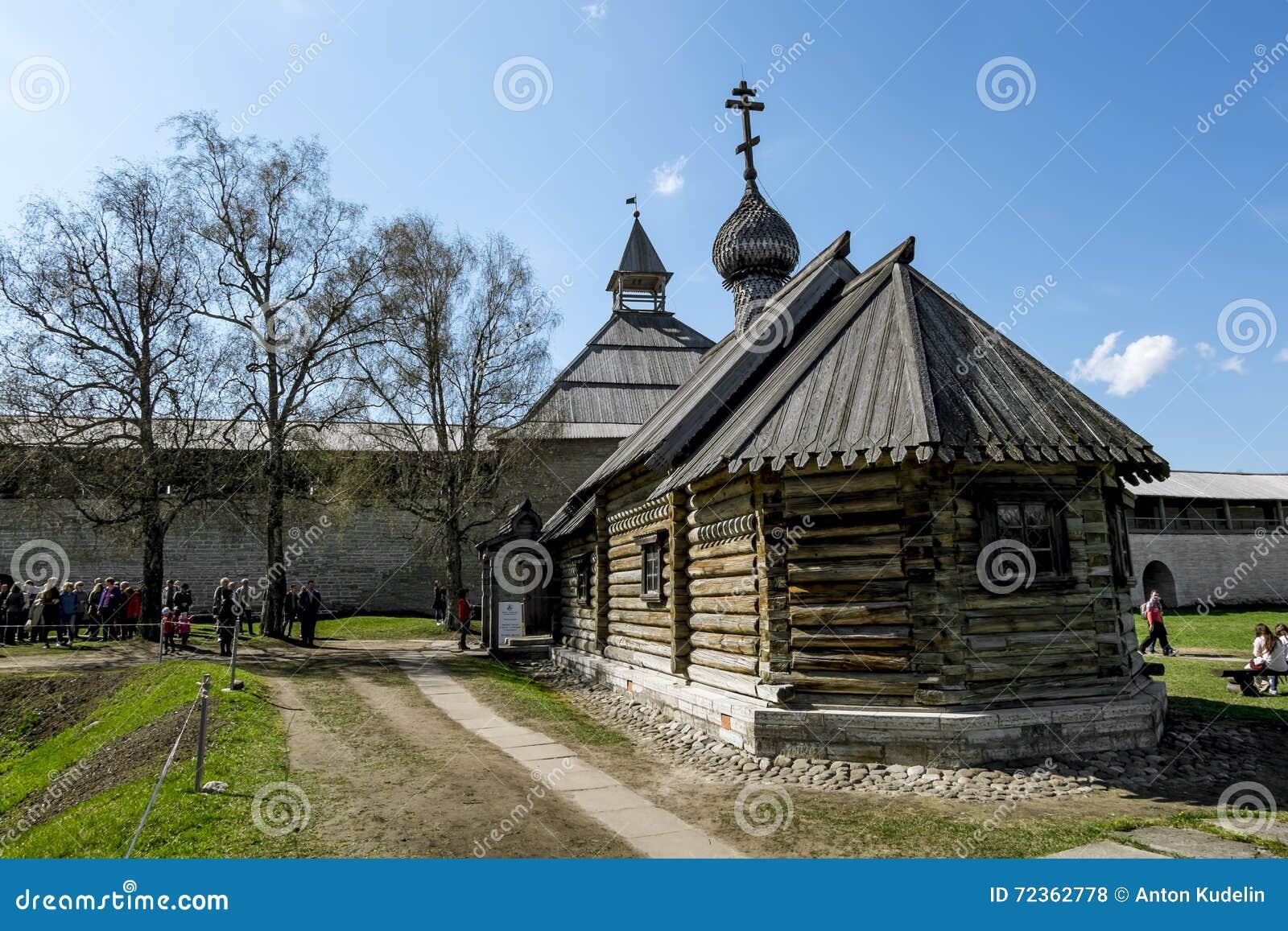 德米特里Solunsky教会在堡垒在Staraya拉多加 俄国