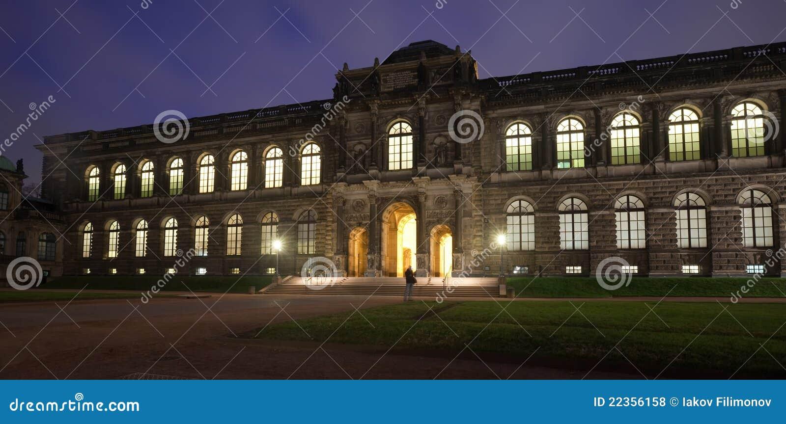 德累斯顿晚上宫殿zwinger
