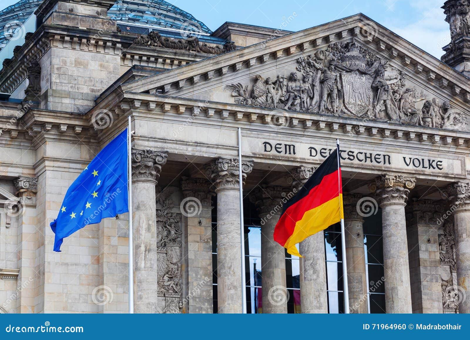 德语Reichstag在柏林,德国