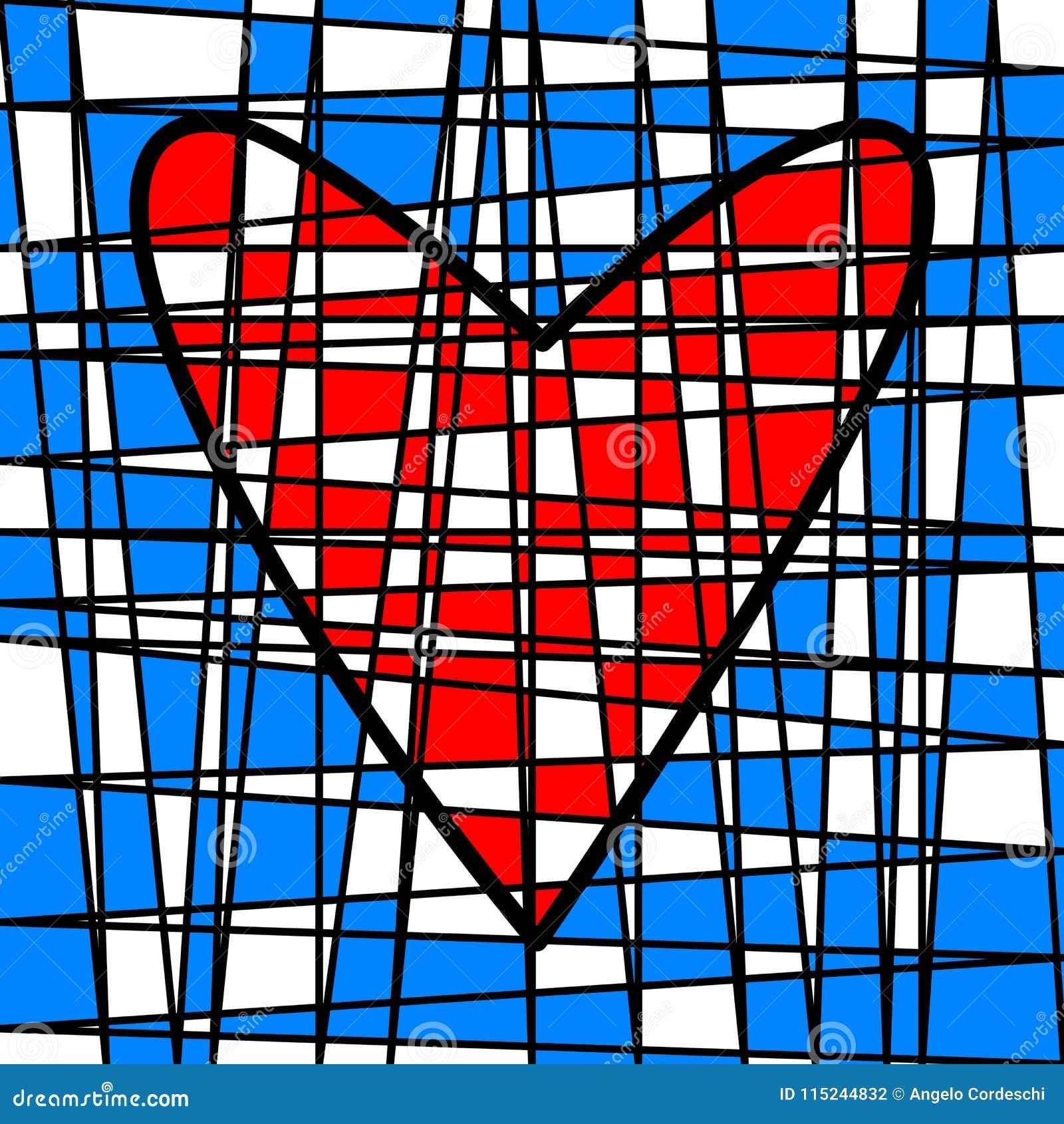 心脏五颜六色的铺磁砖的补缀品 色的剧情