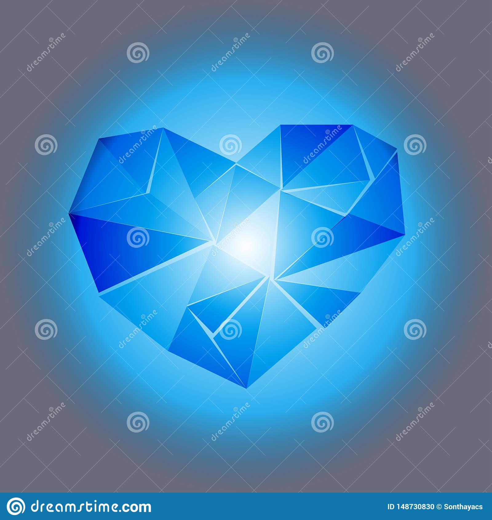 心脏传染媒介例证摘要背景美好的多角形