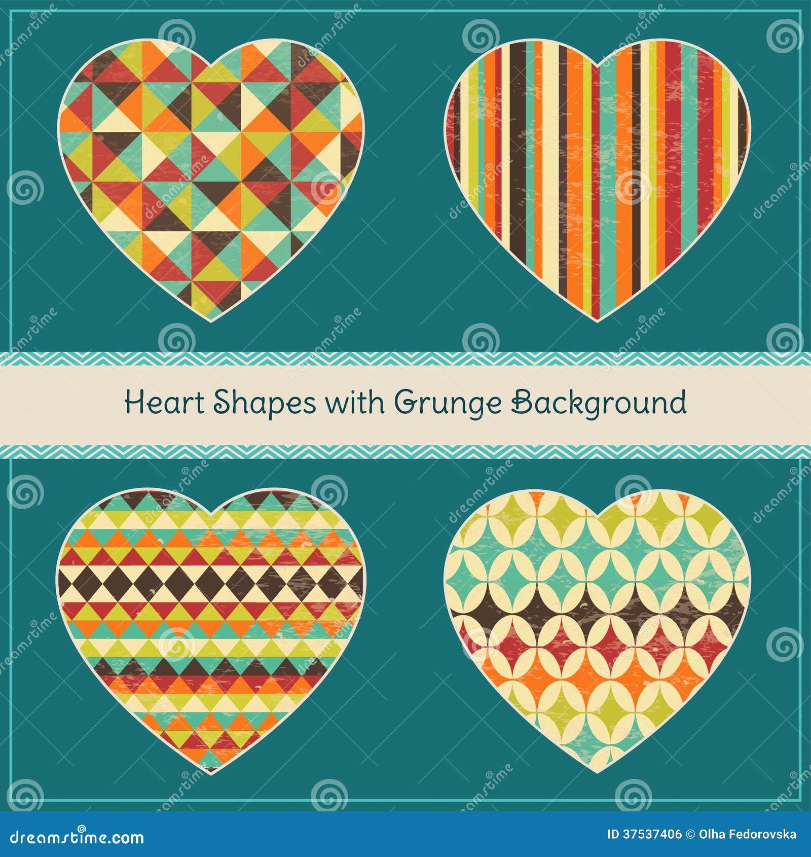 心脏形状有几何难看的东西背景