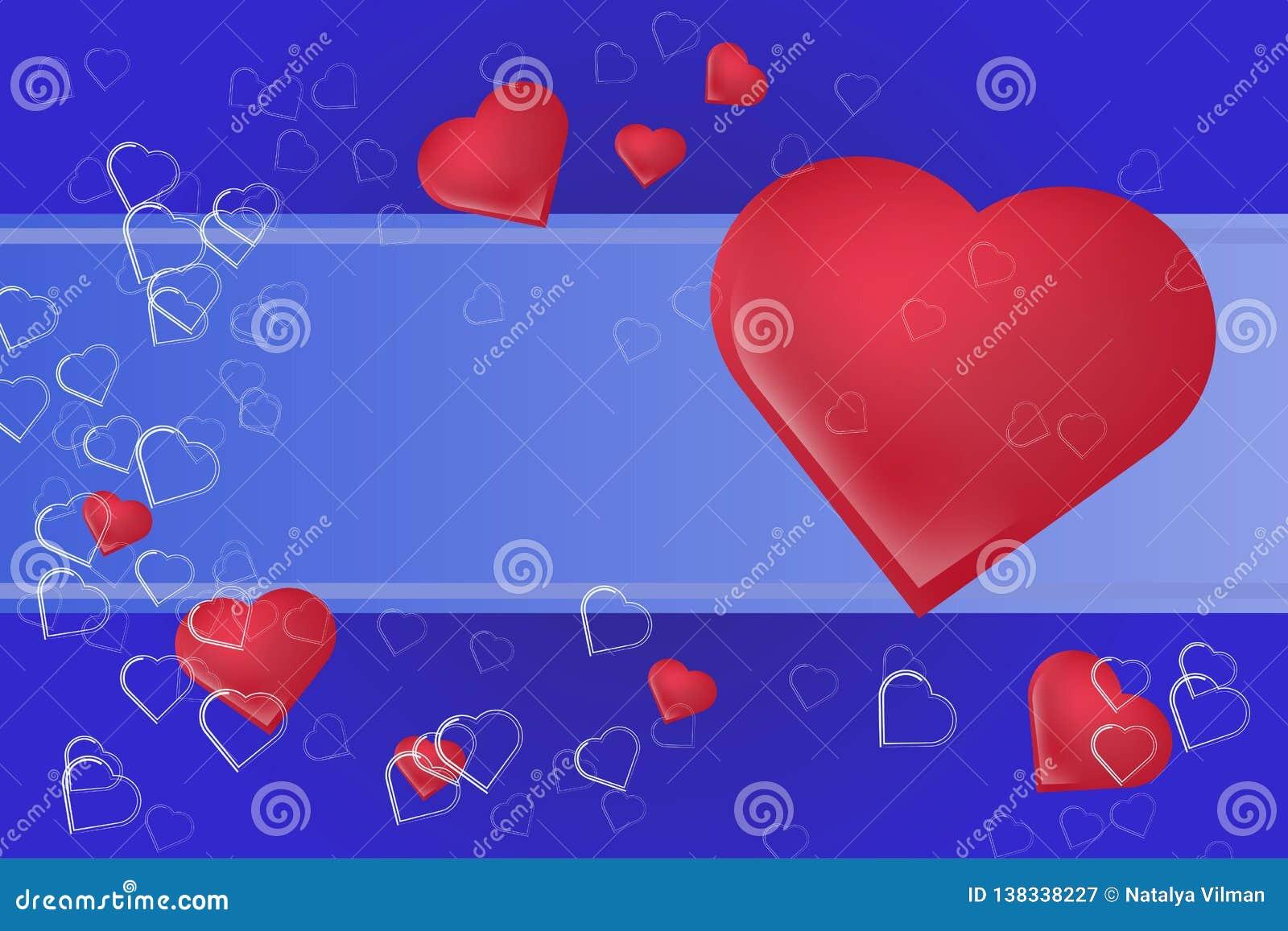 心脏标志剪影与一个地方的在文本下 美好的欢乐背景为华伦泰` s天