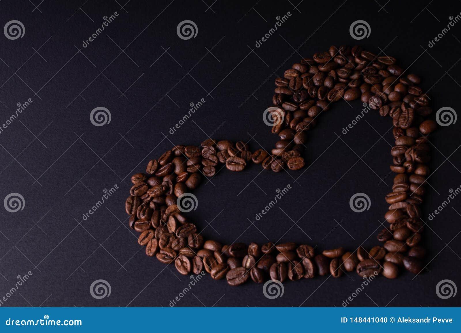 心脏标示用咖啡豆