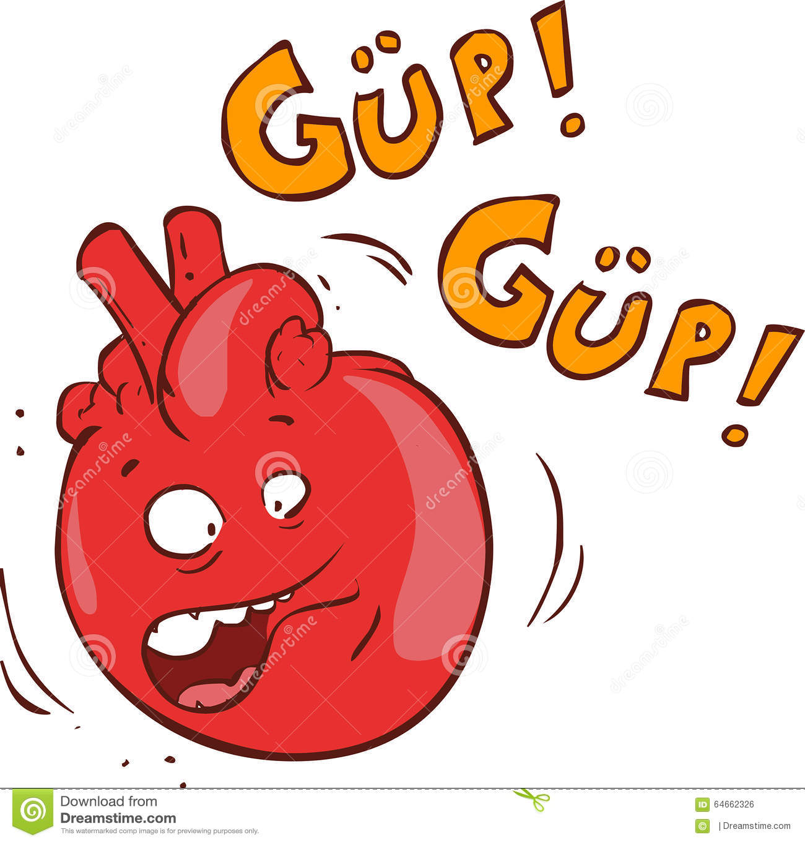 心脏漫画人物的传染媒介例证.图片
