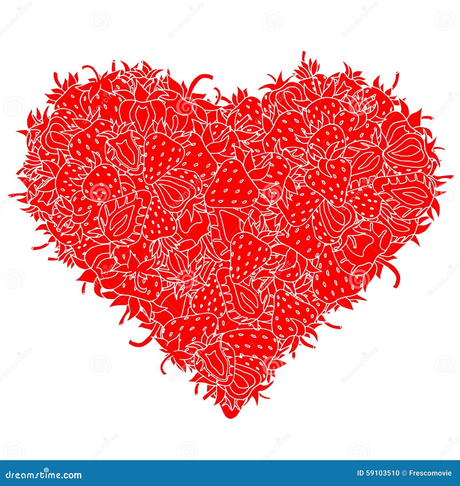 心脏由草莓制成