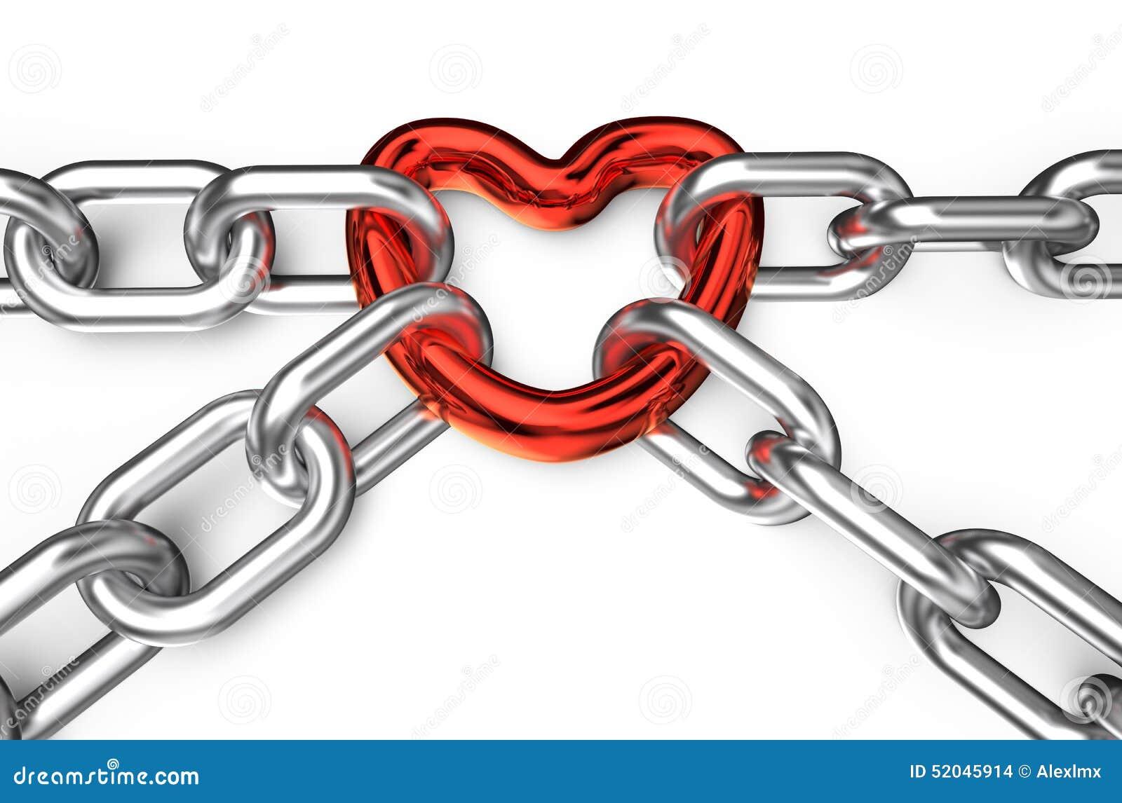 心脏被连接的链子