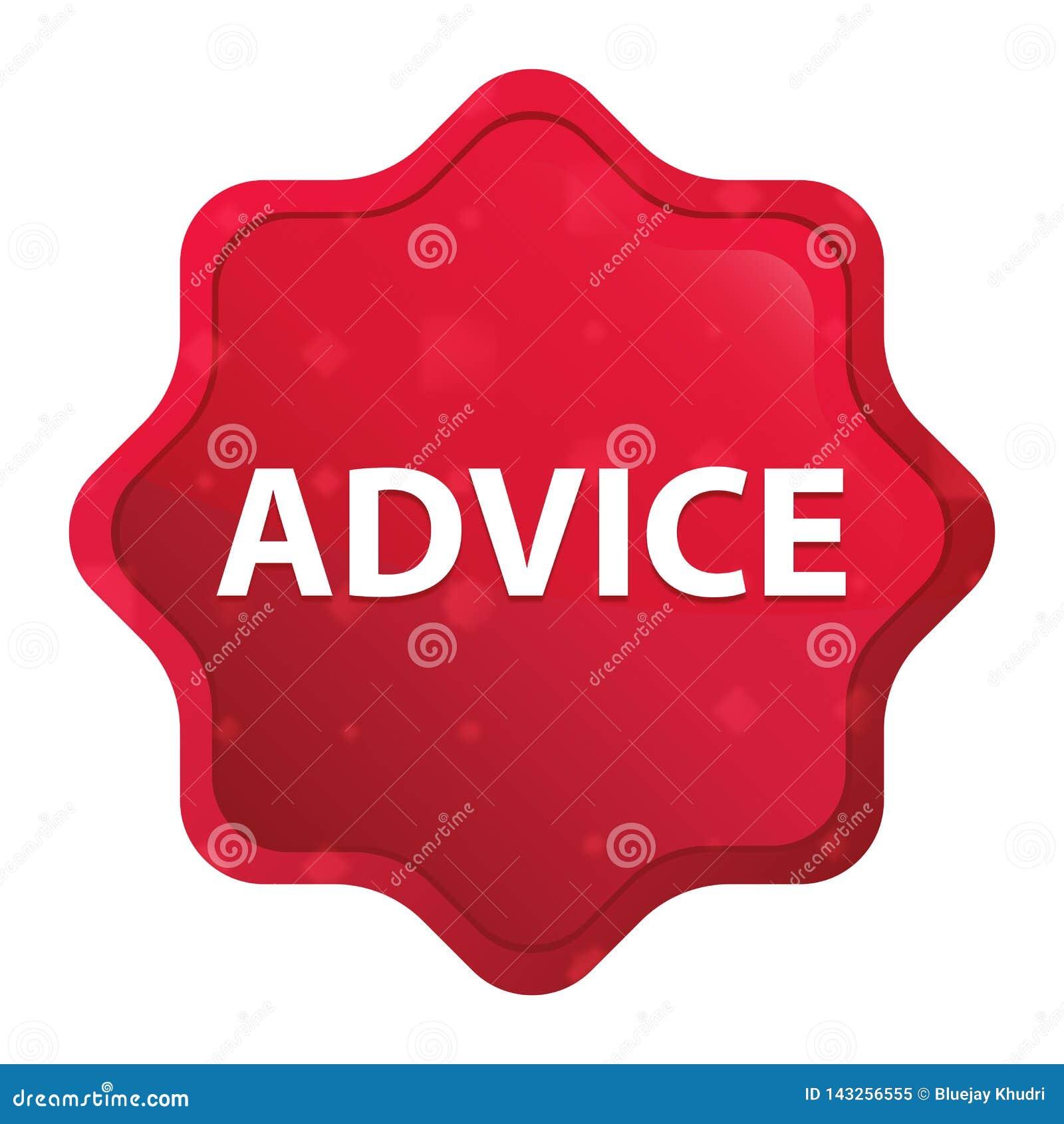 忠告有薄雾的玫瑰红的starburst贴纸按钮
