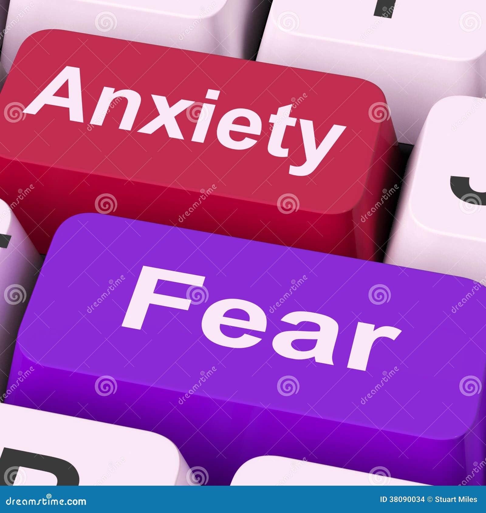 忧虑恐惧锁上害怕的手段急切和