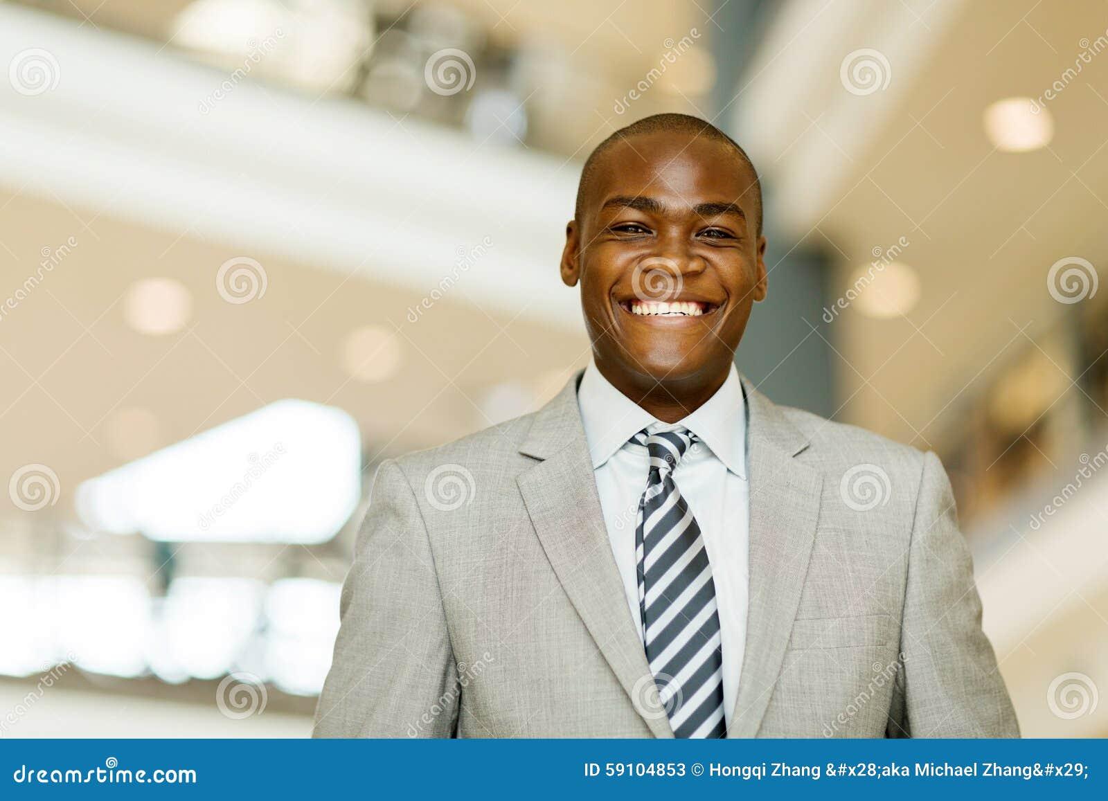 快乐的非洲商人