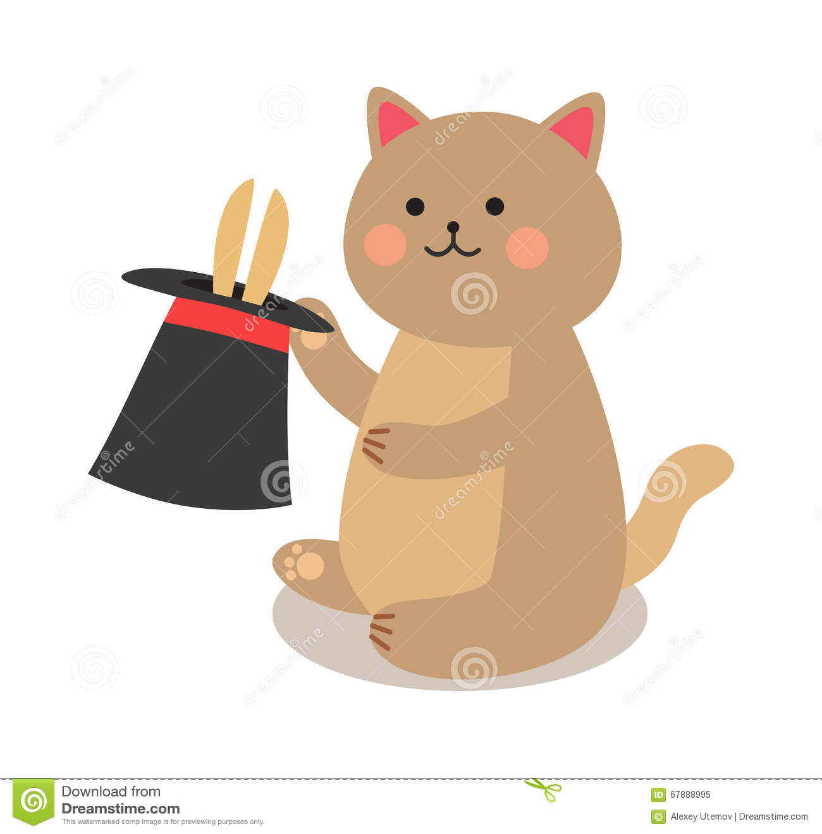 快乐的马戏演奏猫的套导航例证