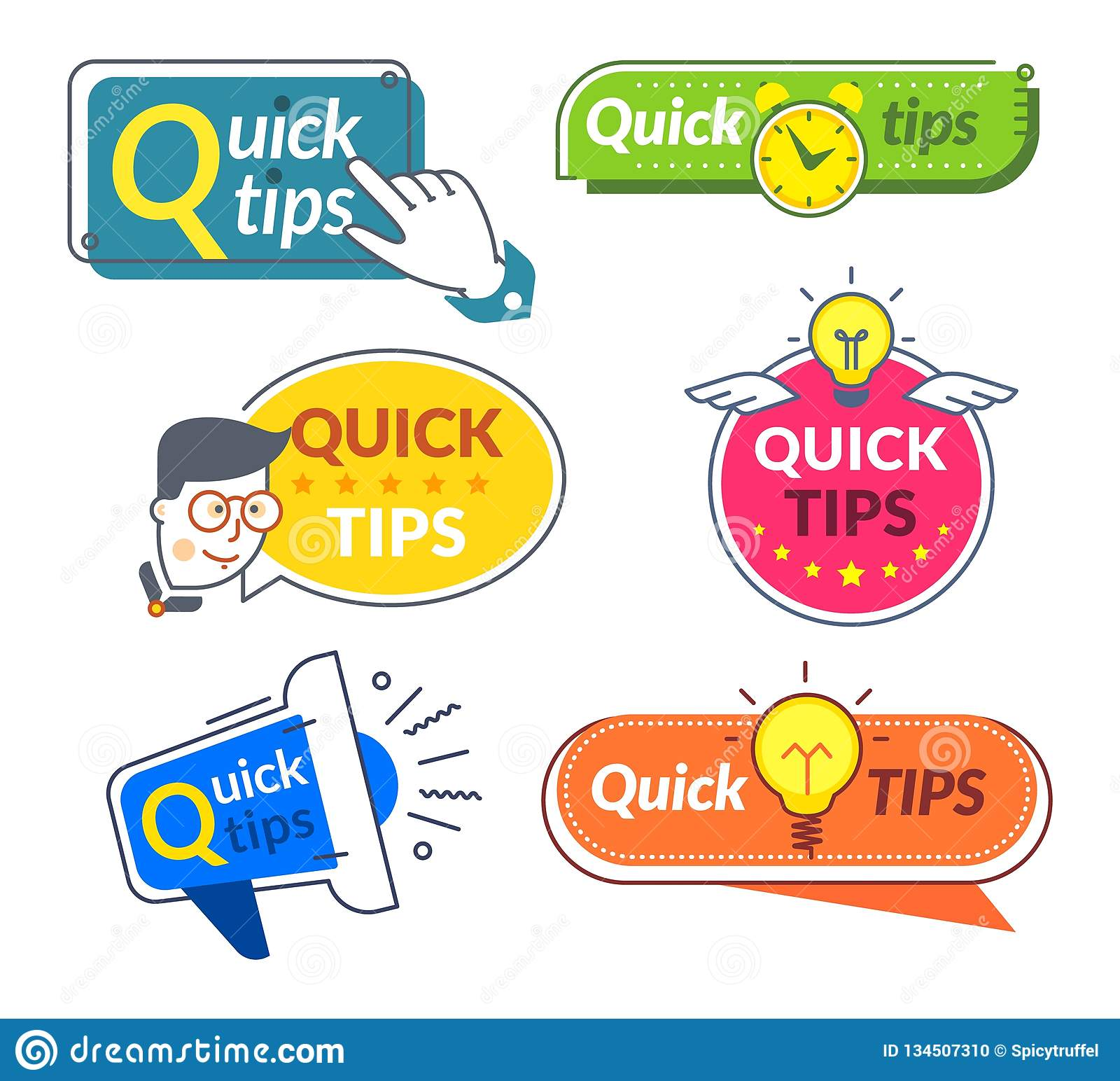快的技巧横幅 技巧和把戏建议,迅速帮助忠告解答 有用的信息字标签