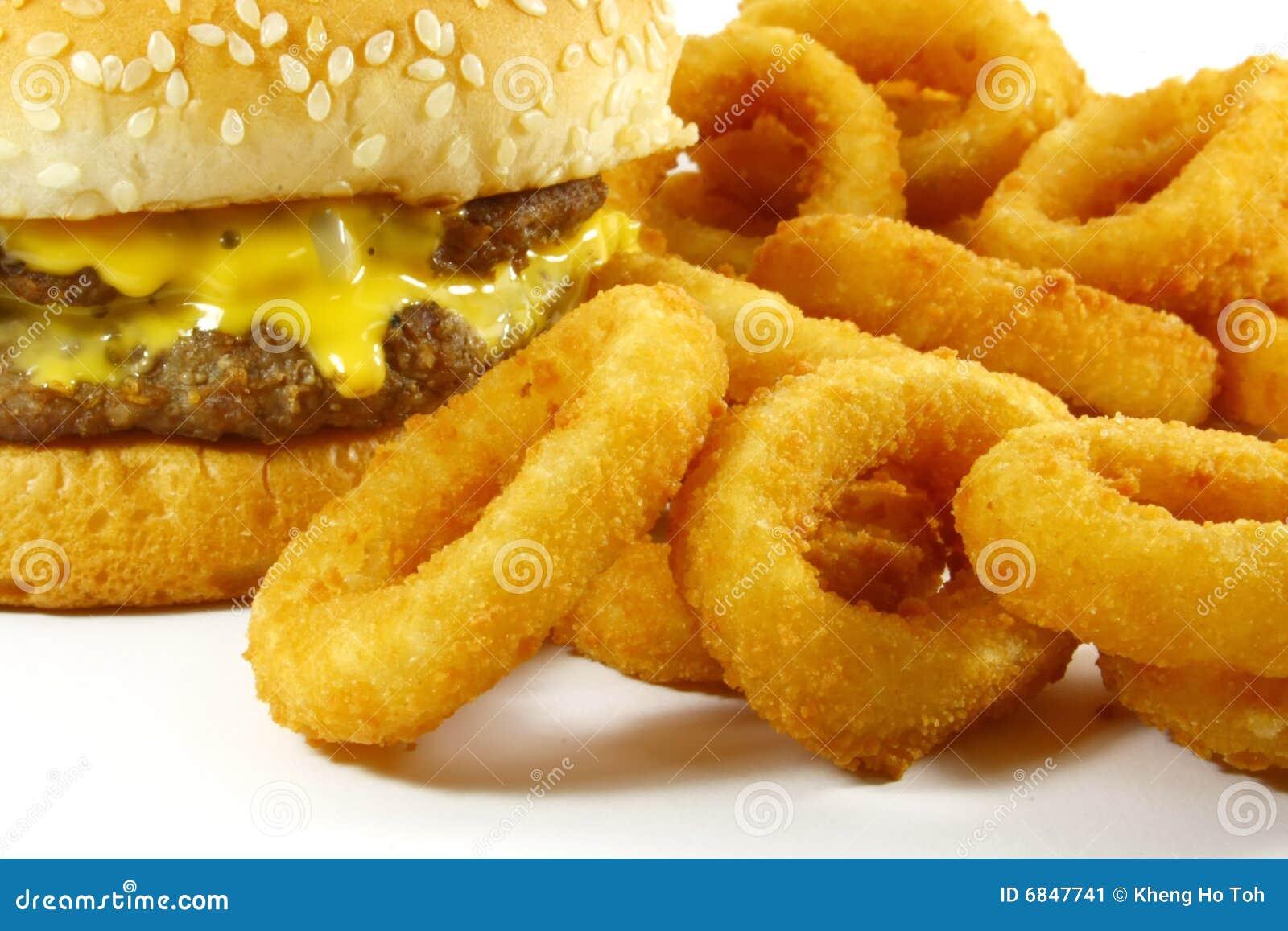 快餐汉堡包膳食洋葱圈