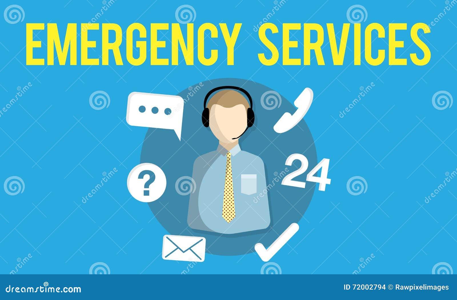 紧急情况服务紧急热线服务电话关心服务概念