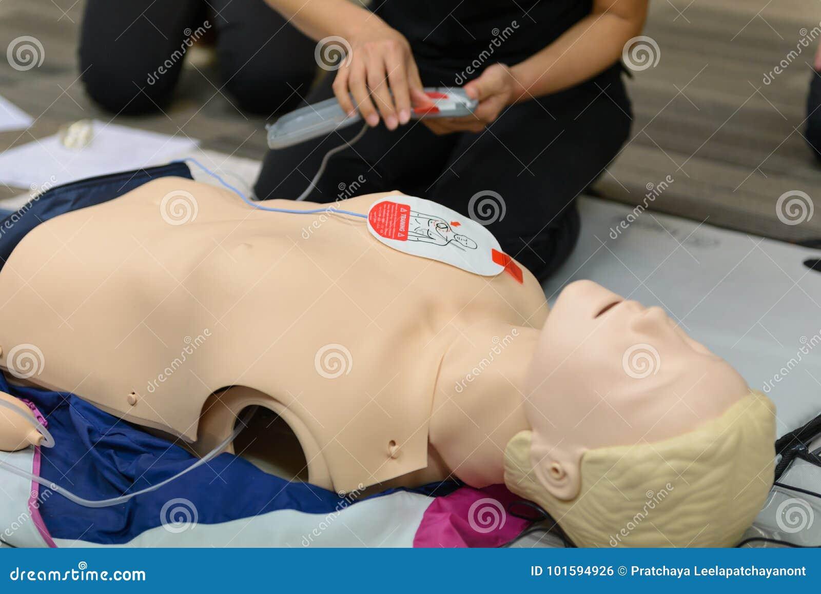 急救使用AED训练的心肺复苏术路线