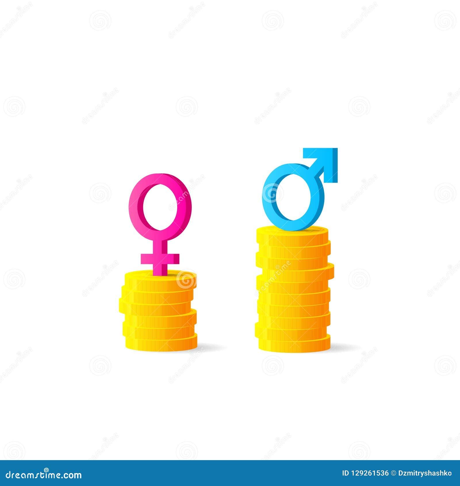 性别差距或不同等的薪水概念