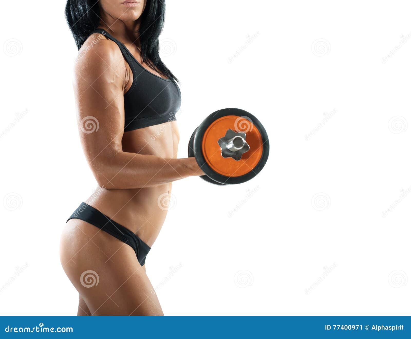 性感的妇女锻炼